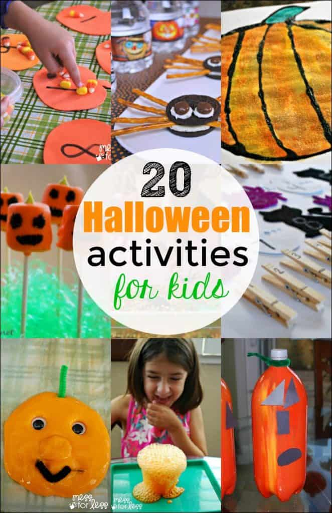 My kids loved all of these Halloween activities. So easy and simple to just set up and have fun!
