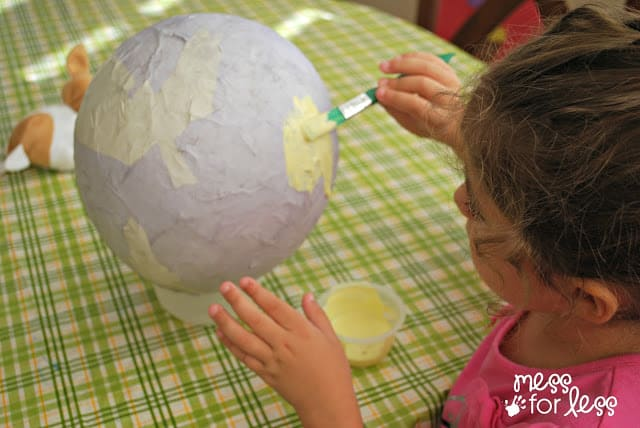 painting paper mache