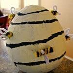 DIY Paper Mache Beehive: Bumblebee Costume Accessory