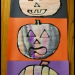 Halloween Crafts for Kids: Black Glue and Watercolor Pumpkins