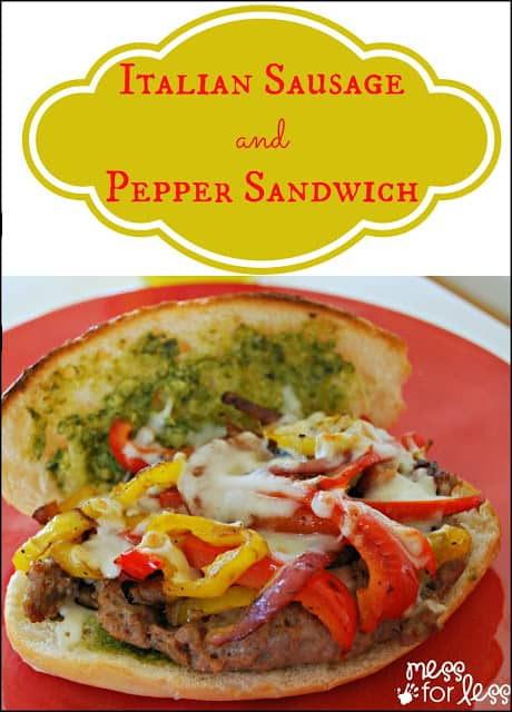 Simple Recipe for an Italian Sausage and Pepper Sandwich #shop #FreshFinds #cbias