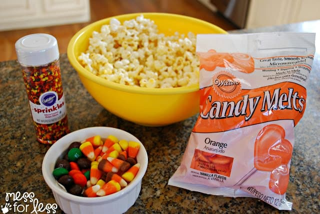 Ingredients for Fall Popcorn