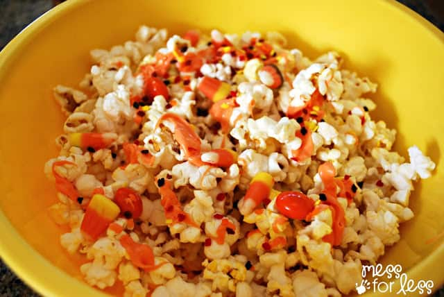 making fall popcorn