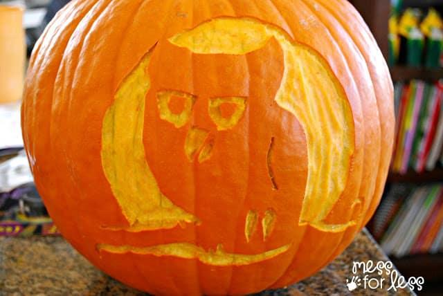 Making memories family pumpkin carving mess for less