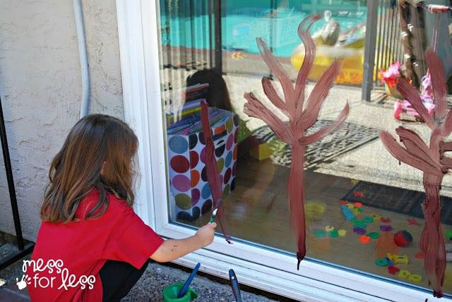 Window painting art activity