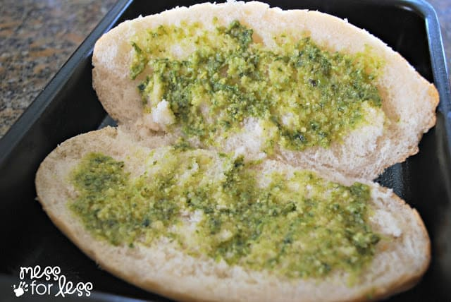 Bread with pesto from Lucky Supermarket #shop