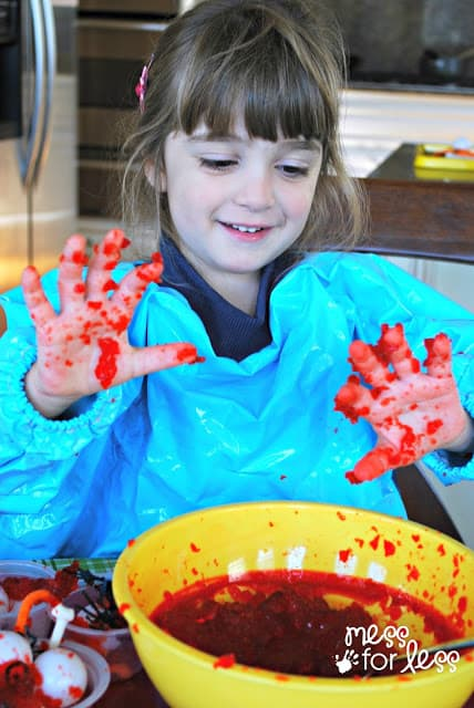 child with messy play