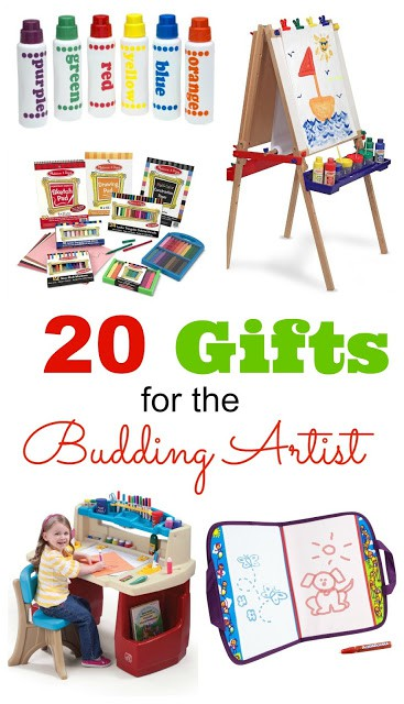 20 Gifts for the Budding Artist - Know a kid who loves art? Here are some creative gift options to inspire them!