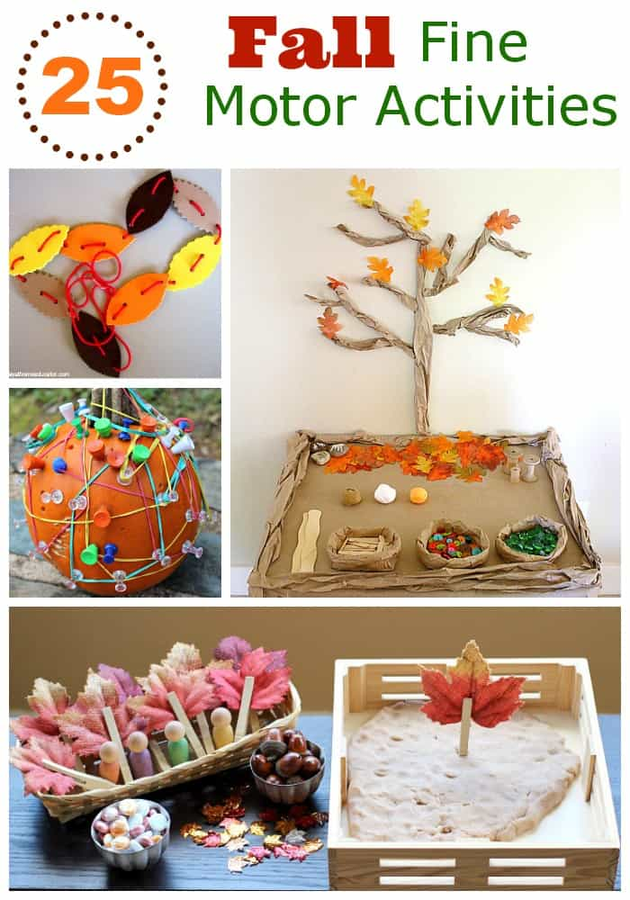 25 Fall Fine Motor Activities on Spring Preschool Themes Lesson Plans