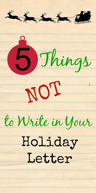 Do you send a holiday letter? Here are 5 Things NOT to Write in Your Holiday Letter #Motherfunny #shop