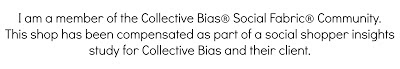 I am a member of the Collective Bias Social Fabric Community. This shop has been compensated as part of a social shopper insights study for Collective Bias and their client. All opinions are my own.