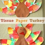 Tissue Paper Turkey Craft