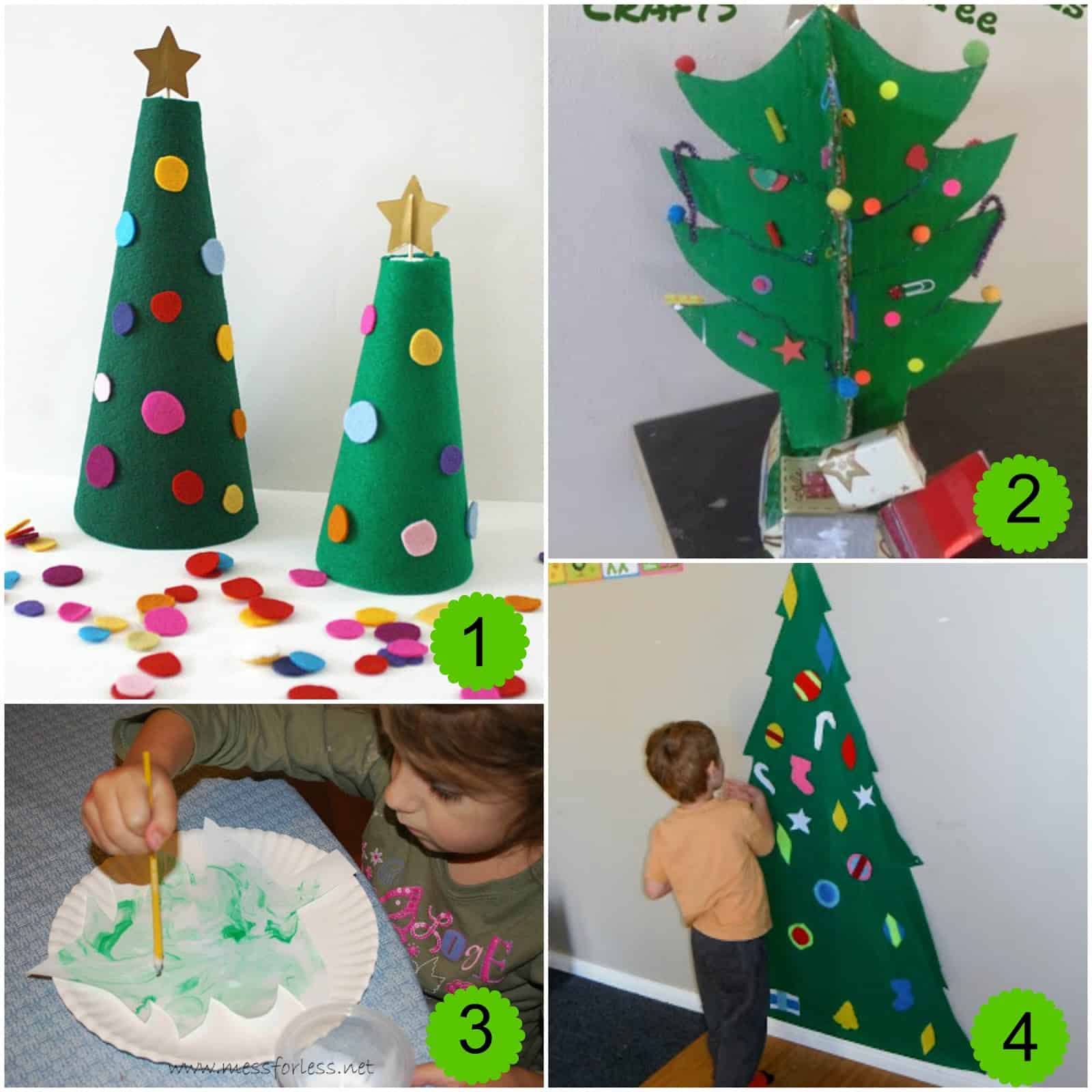 10 christmas tree activities and the weekly kids co op for Free christmas crafts for kids