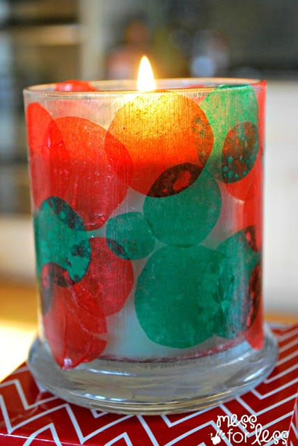Gifts for Kids to Make - Candle Holder. This kids Christmas craft is simple gift a child can give to a grandparent, teacher etc...