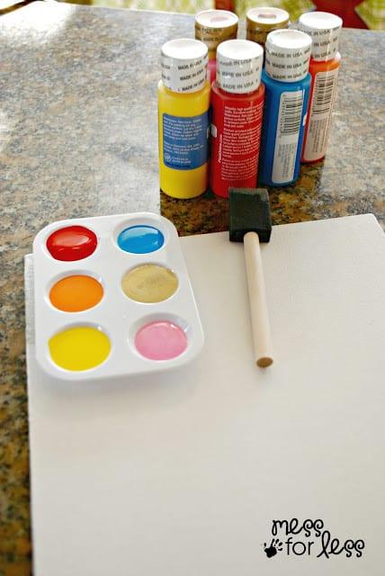 paint on a pallette