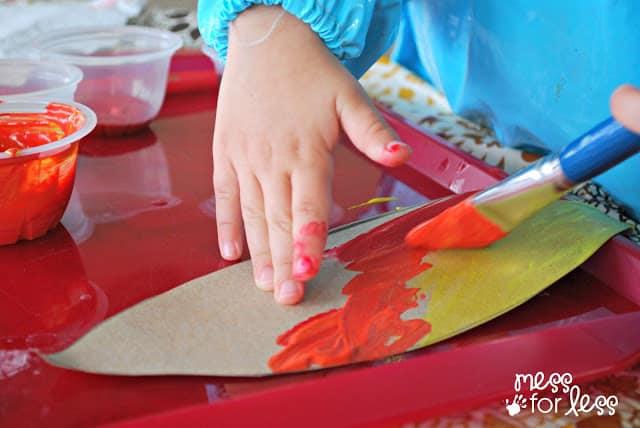 painting turkey feathers