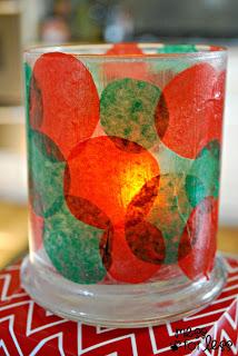 Christmas votive
