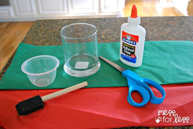 Christmas candle holder supplies