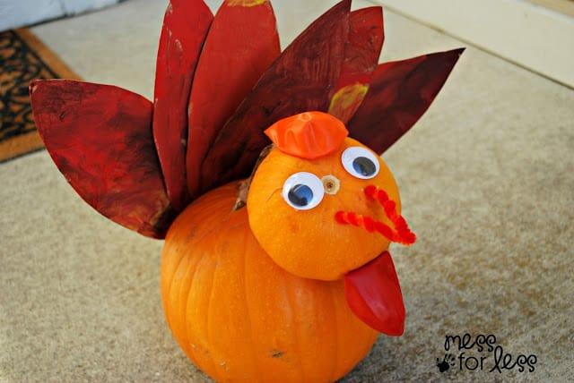 DIY Pumpkin Turkey