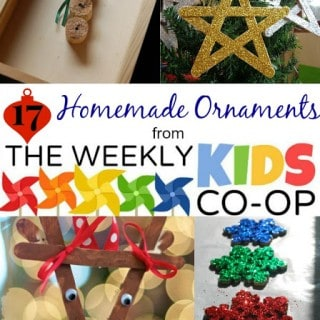 17 Ideas for Homemade Ornaments and the The Kids Weekly Co-Op Link Party