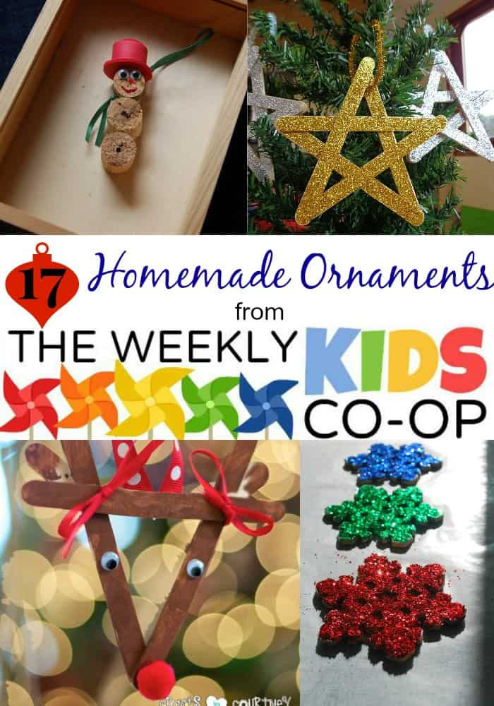 17 Homemade Ornaments From The Kids Weekly Co Op Link Party