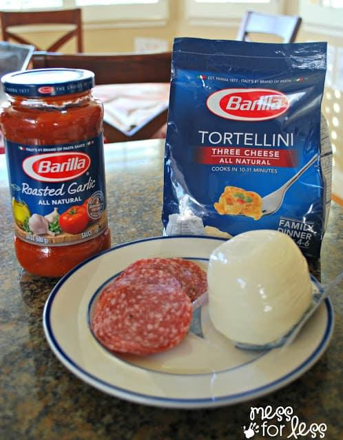 Recipe for Italian tortellini salad