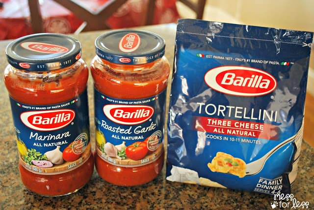 Barilla Tortellini and Barilla Sauce