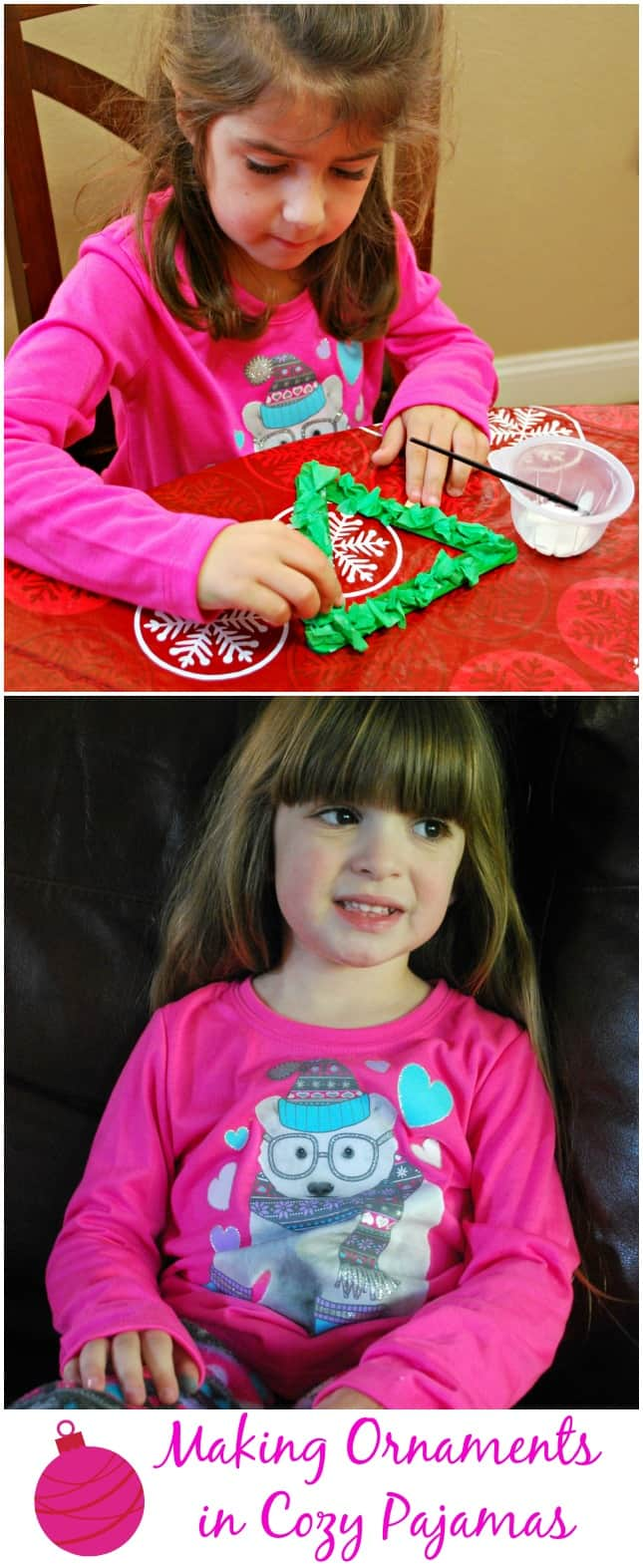 We had fun making ornaments in our new pajamas from Sears. #shop #ThisisStyle #Cbias