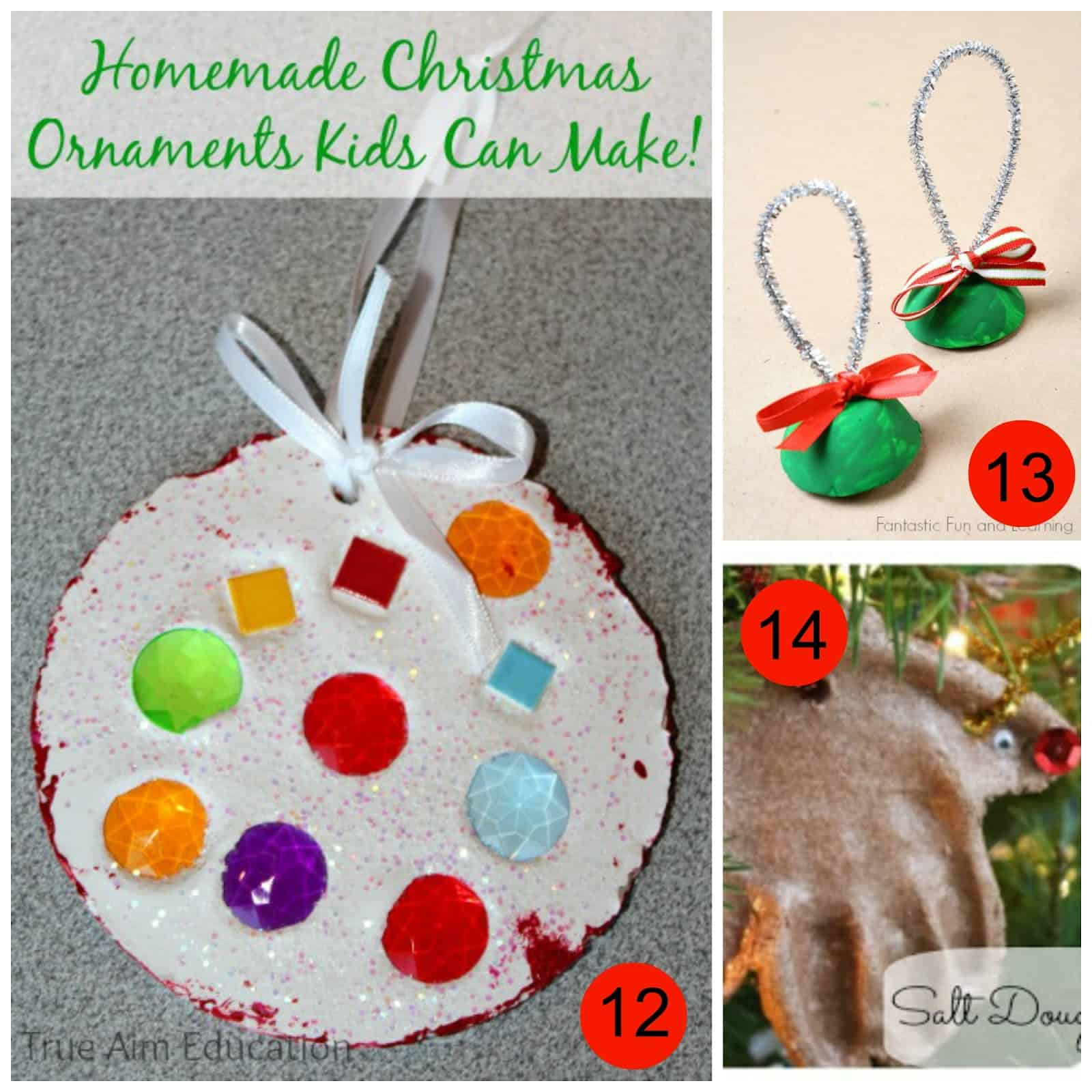Lovely Christmas Ornaments For Kids To Make In School Part - 4: Homemade Christmas Ornaments Kids Can Make From True Aim 13. Egg Carton  Bell Christmas Craft From Fantastic Fun And Learning