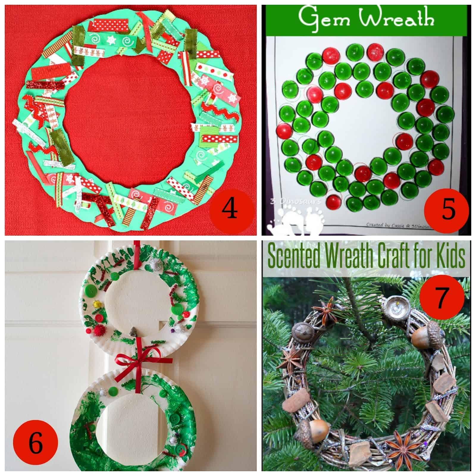 Awesome Wreath Crafts For Kids Part - 8: Paper Plate Christmas Wreath From Sow Sprout Play 7. Scented Wreath Craft  For Kids From My Nearest And Dearest