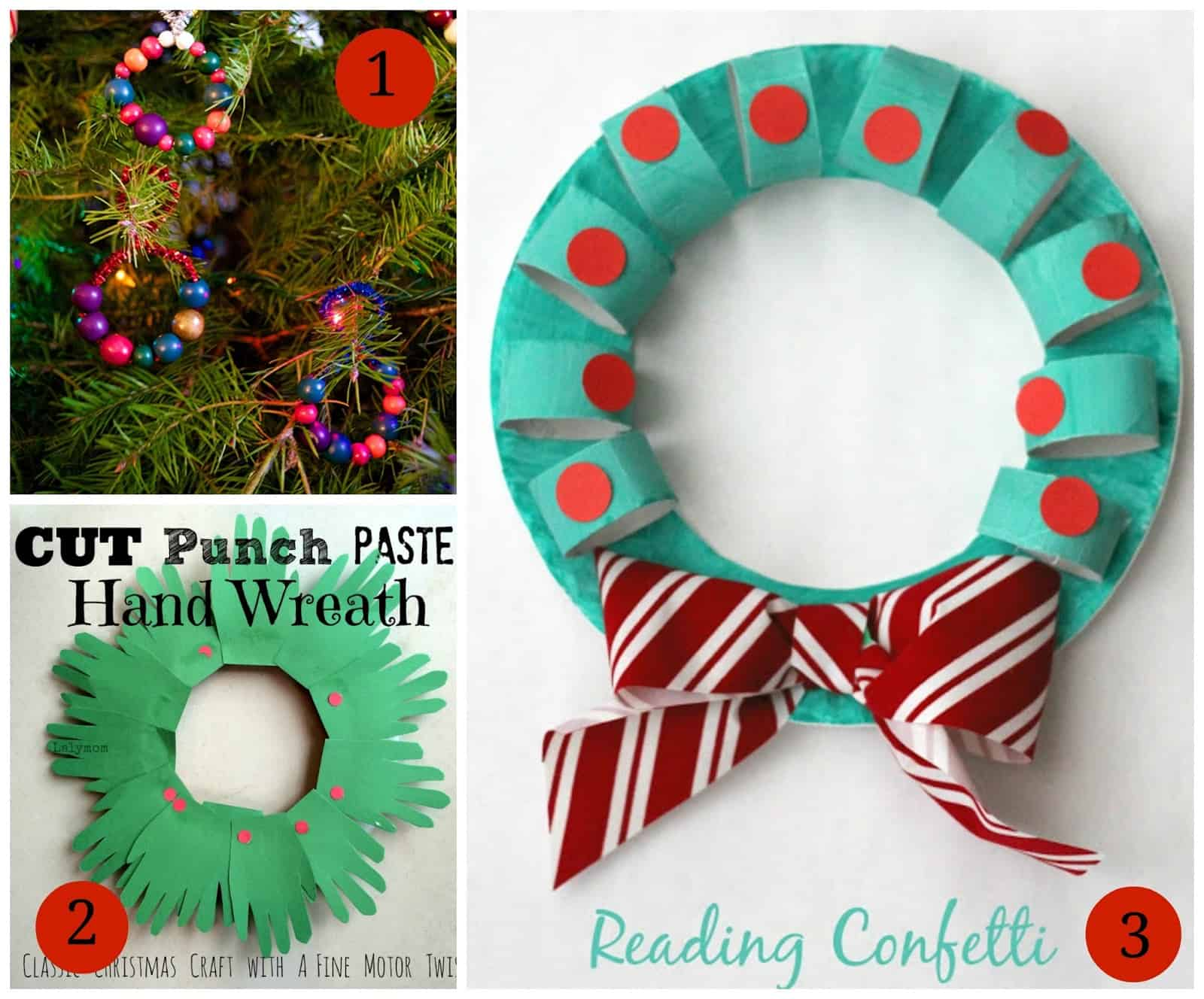 Delightful Wreath Crafts For Kids Part - 6: 7 Wreath Crafts For Kids Plus The Kids Weekly Co-Op Link Party