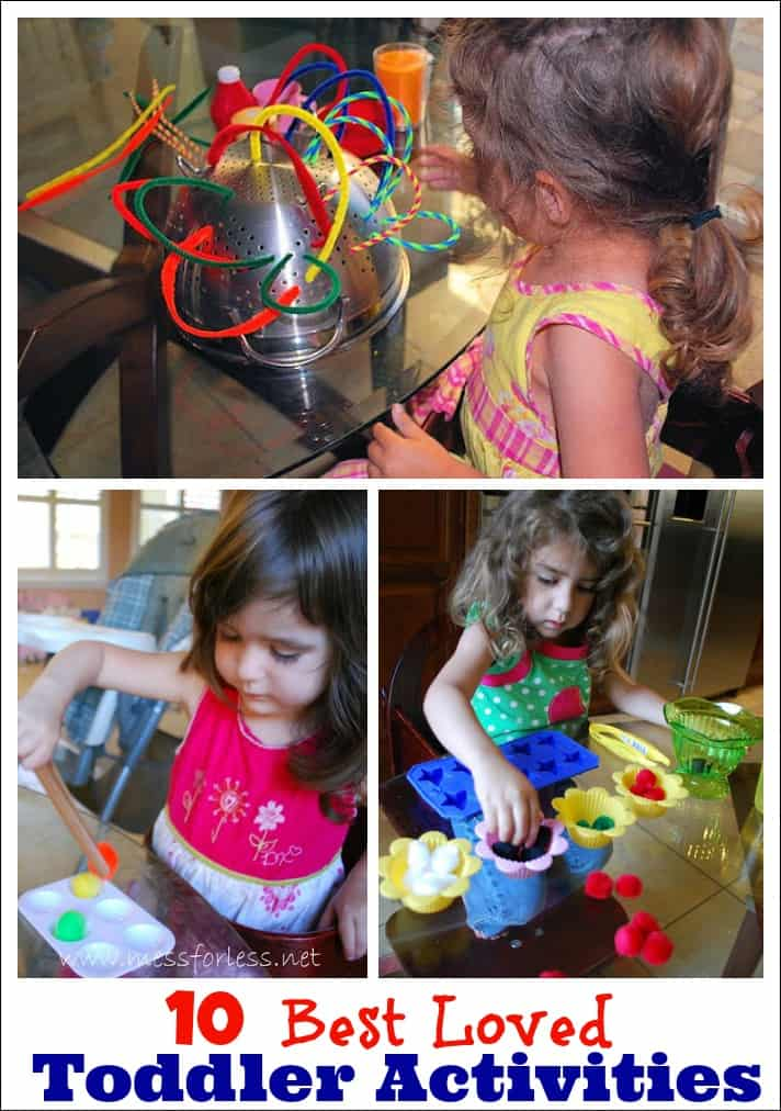 10 Best Loved Toddler Activities - These have been favorites with my kids. They are not only fun, but they work on important skills.