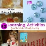 12 Learning Activities from the Kids Weekly Co-Op Link Party