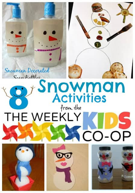 8 Snowman Activities from the Kids Weekly Co-Op