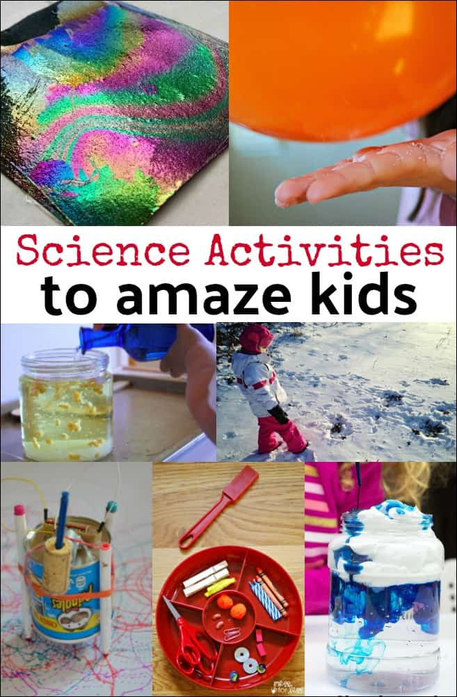 These science activities for kids will fill children with wonder as they play and learn. Great way to get kids into STEM!