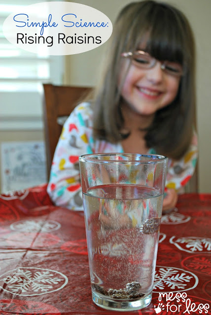 Simple Science - Rising Raisins. Kids will love watching the raisins rise and sink and discovering the science behind the process.