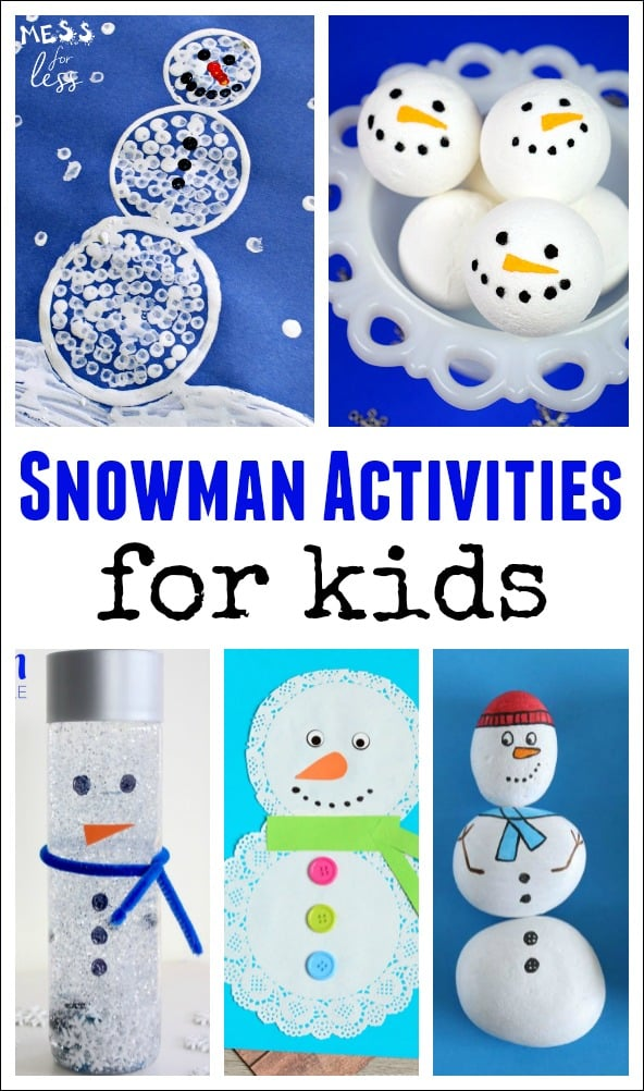 These Snowman Activities are a fun way to get kids excited for a snow day or help them deal with the absence of snow in their lives.