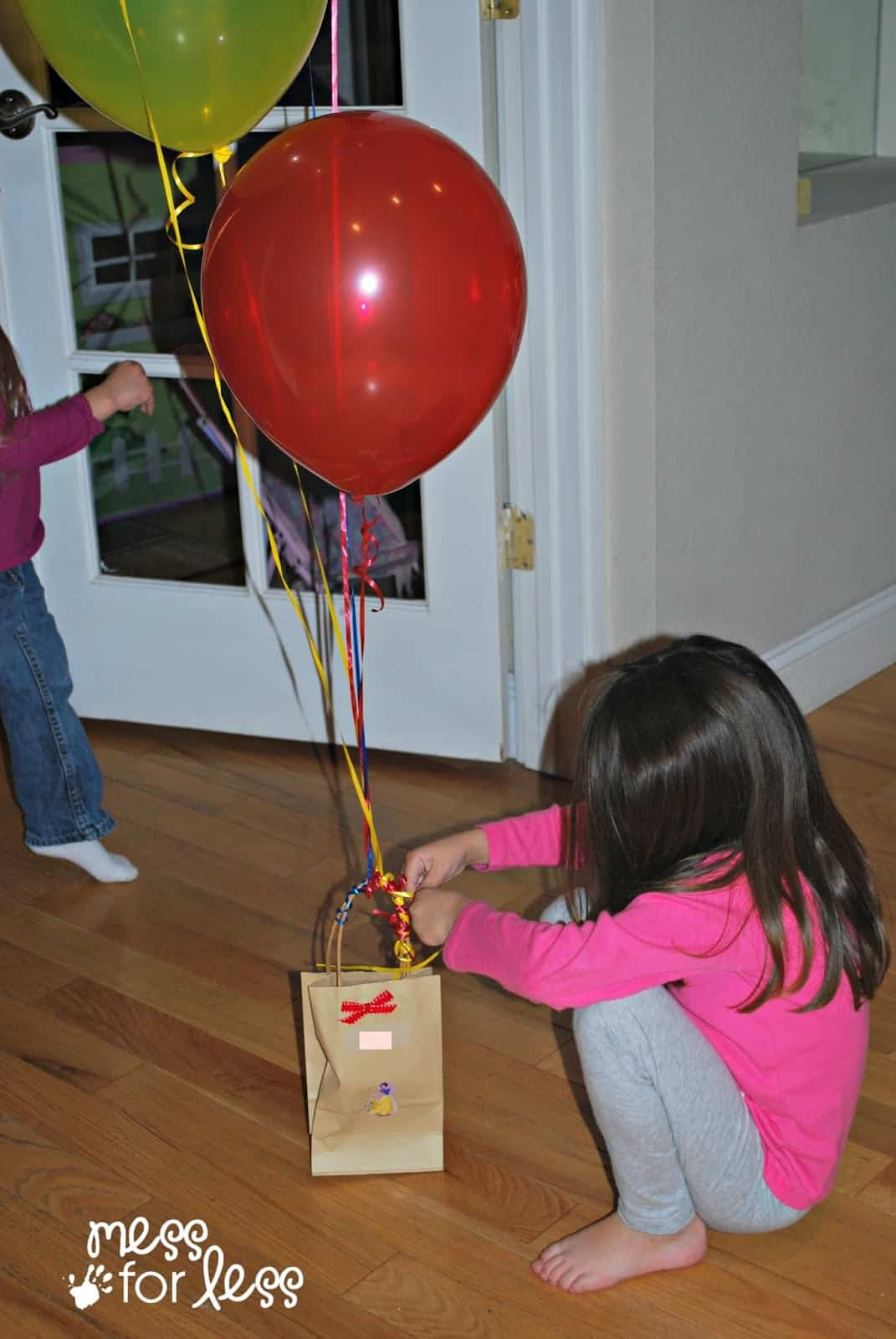 balloons and a bag