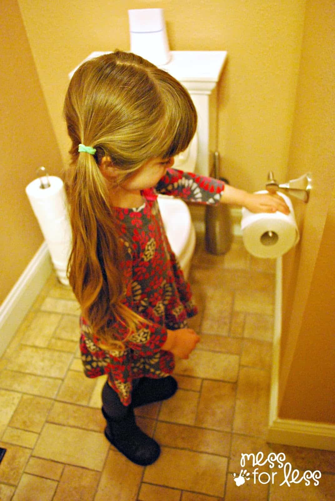 how to teach toddler to clean after potty