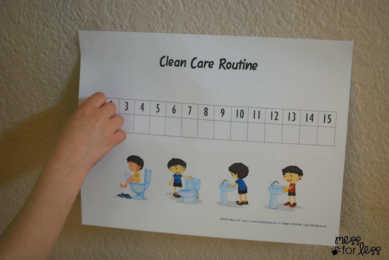 clean care routine free printable #CtnlCareRoutine #PMedia #sponsored