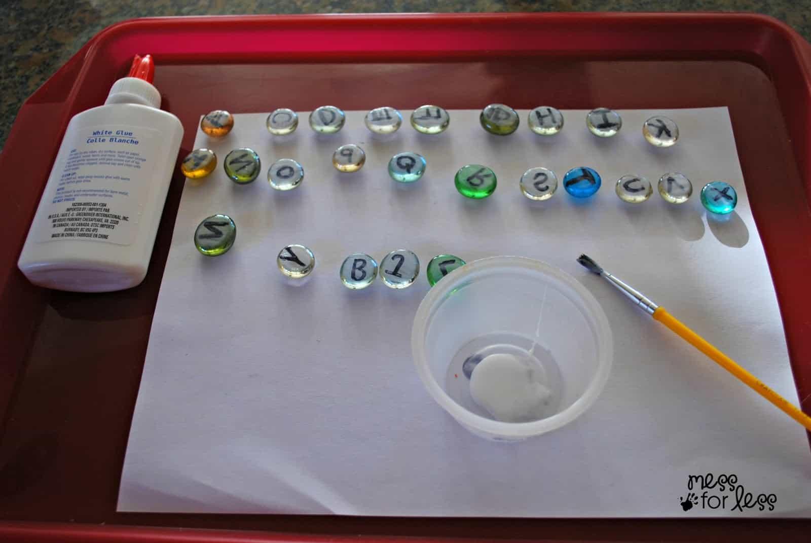 Making letter stones