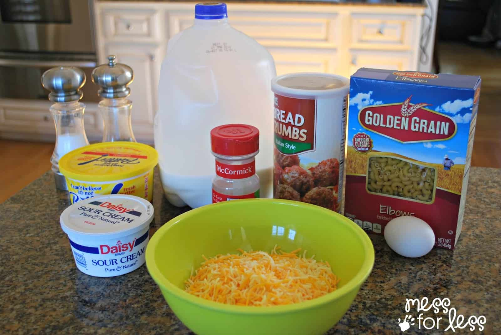 macaroni and cheese muffin ingredients