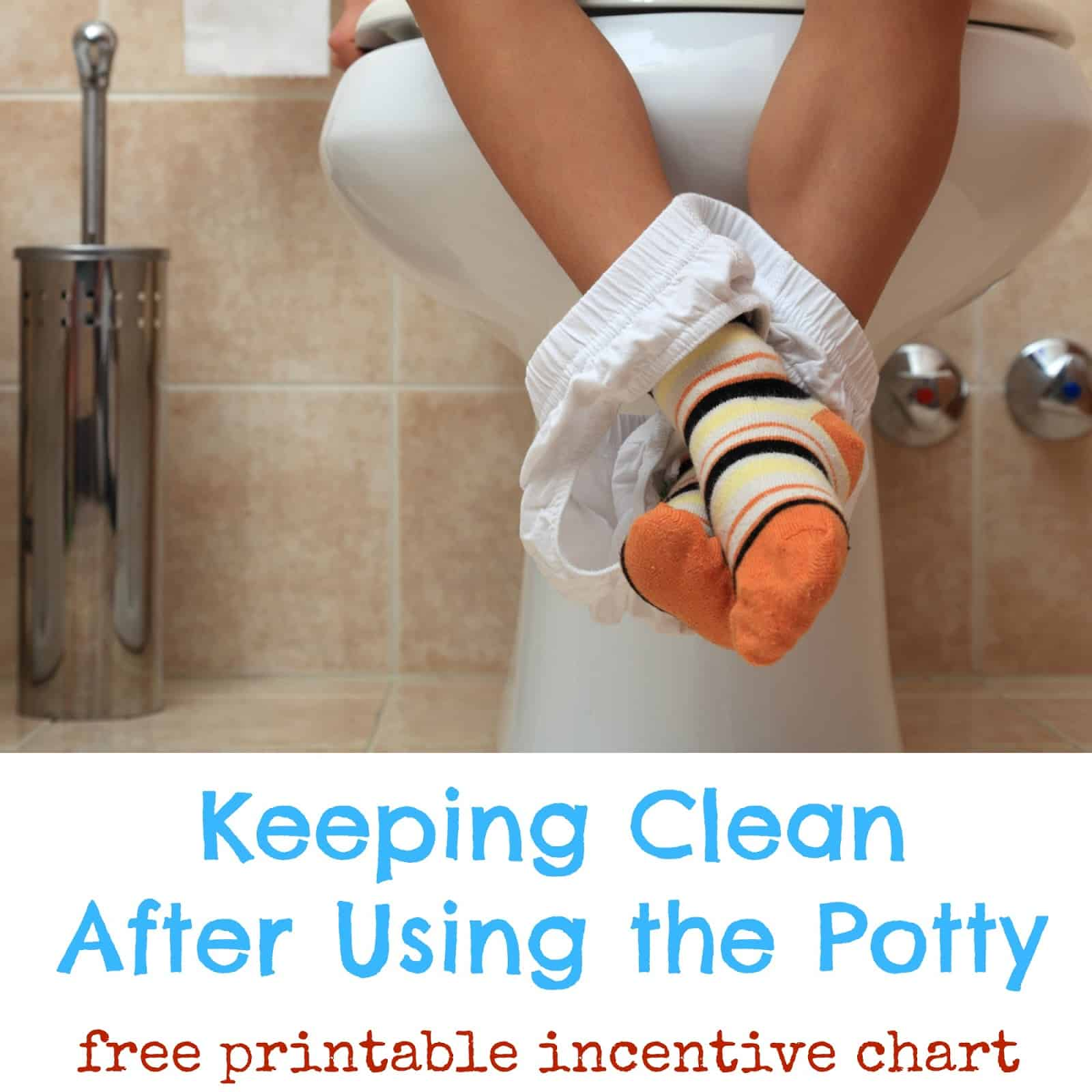 Keeping Clean After Using the Potty - Tips and free printable incentive chart #CtnlCareRoutine #PMedia #sponsored