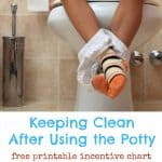 Teaching Kids to Keep Clean After Using the Potty