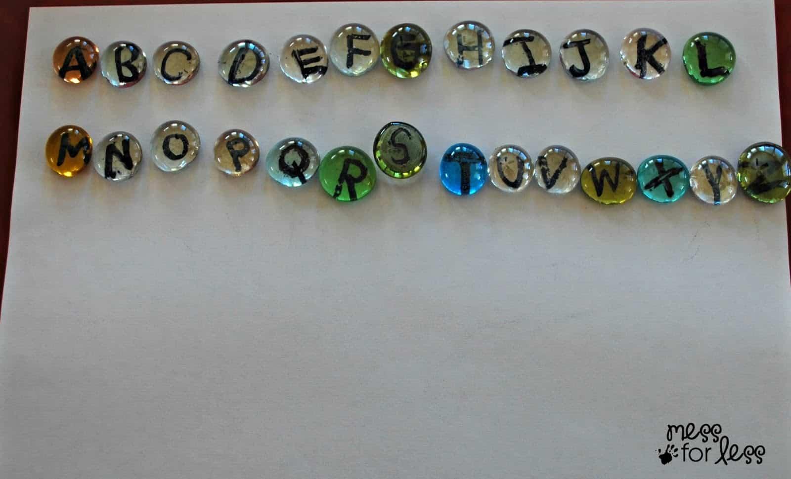 Alphabet stones