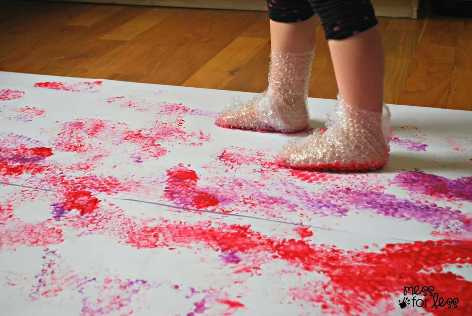 painted foot prints