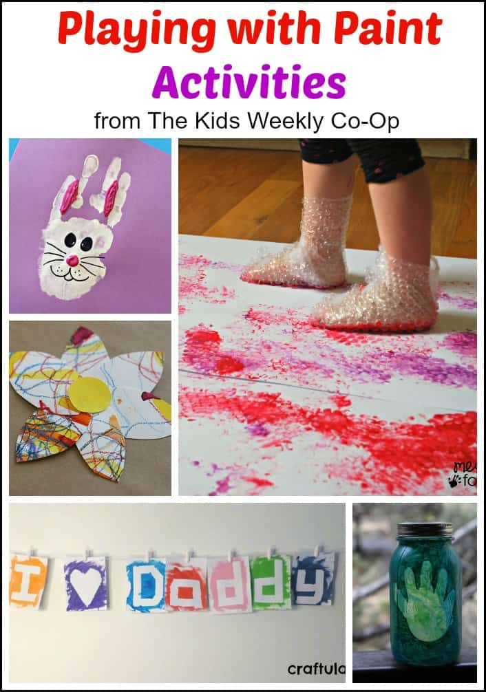 Playing With Paint Activities From The Kids Weekly Co Op