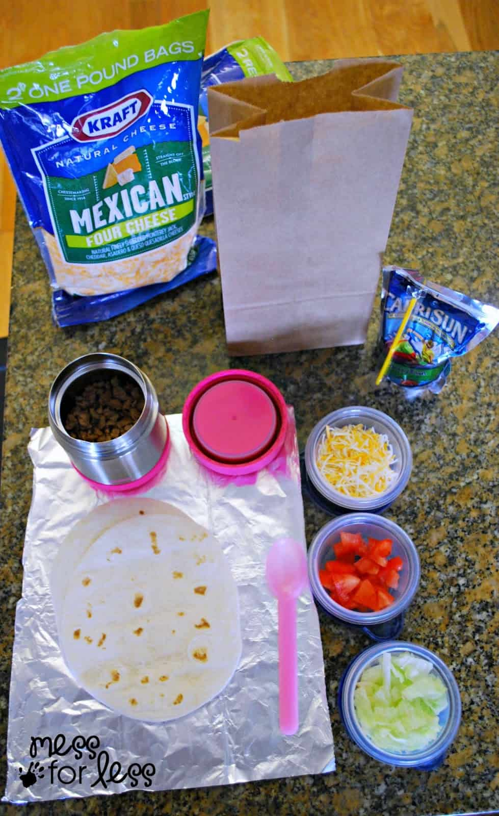Make Your Own Tacos Recipe Lunch For Kids Mess For Less