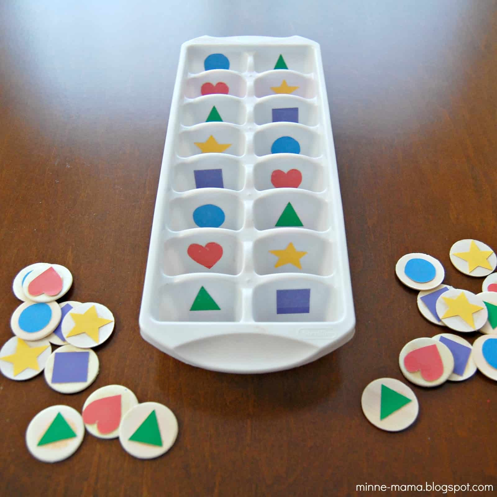 Shape Sorting for Toddlers Mess for Less