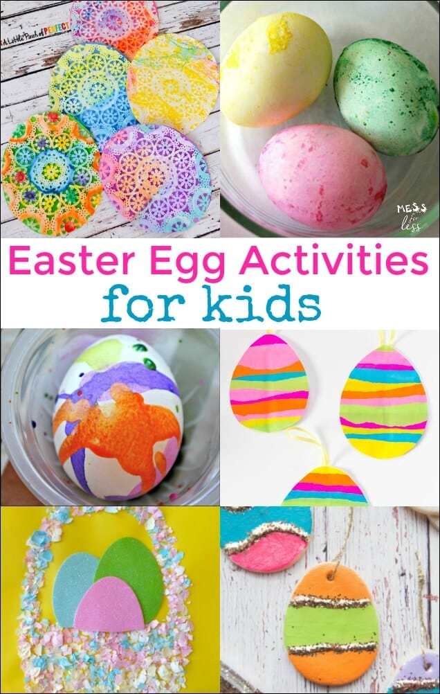 Easter egg decorating doesn't have to be limited to real eggs. Here are some fun Easter Egg Activities for Kids that incorporate egg crafts and activities with traditional egg decorating.